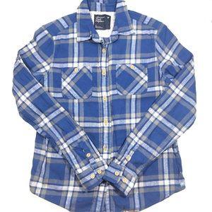 American Eagle Plaid Long Sleeve Button Down Shirt